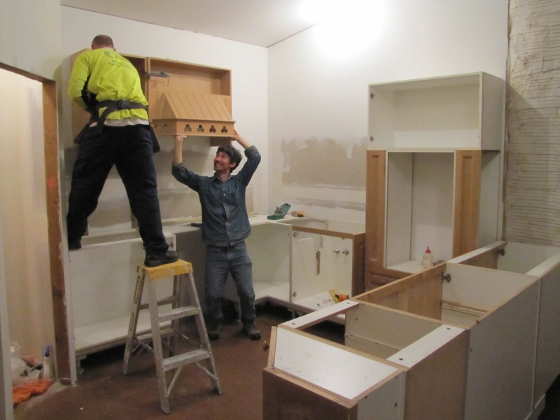Trotters, Arabians, Donkeys and Other People-base-cabinets-installed-wall-cabinets-going