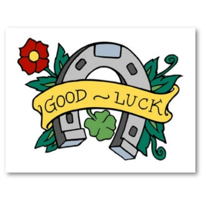 Good Tattoo Ideas on Name  Vintage Good Luck Horseshoe Tattoo Poster