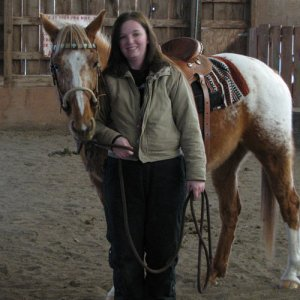 This is me with rebel after working oh  how i hate winter. between my overalls and coat i look 10 pound heavier love winter