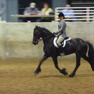 Xander & I in a hunter pleasure class, we brought home a blue ribbon