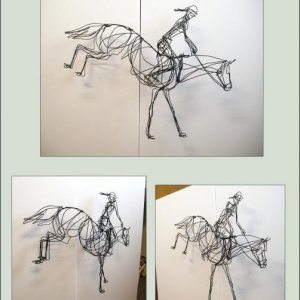 A wire sculpture I made for a class where the project was to create a figure from one piece of wire.
