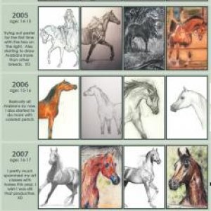 A timeline of my horse artwork since 2003.  :)