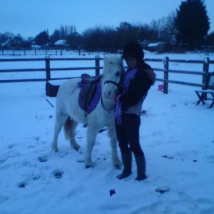 In the snow(:
