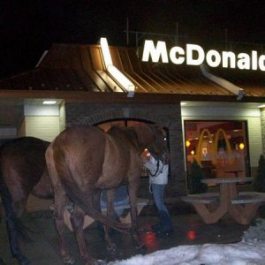 Night ride to McDonald's