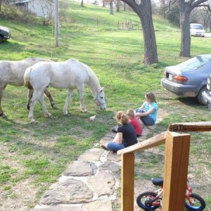 My kids and my horses...doesn't get any better than this.