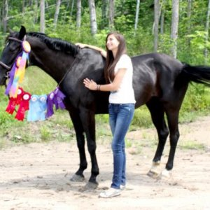 mystique and me with her ribbons. i was a proud momma (: