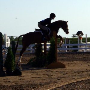 Draco and I in the Open Hunter this is only his second hunter show this season