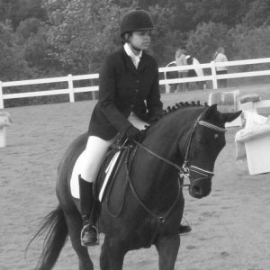 Me and Bianca dressage
