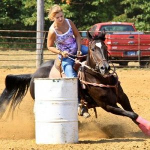 Running my old mare Patty