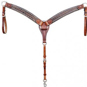 Croc Breast Collar - Med Oil (this has a matching brow band headstall) -> can add conchos and rhinstones