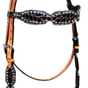 Brown Gator Brow Band Headstall (has a matching breast collar) -> can add conchos and rhinstones
