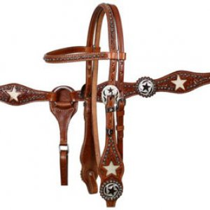 Star Cowhide Set - Med Oil -> can add conchos and rhinstones