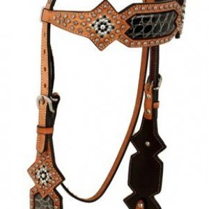 Black Gator Brow Band Headstall (has a matching breast collar) -> can add conchos and rhinstones