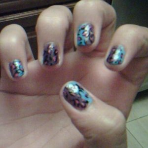 Did my friend Iris' nails for her(;