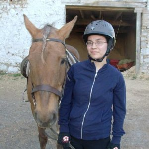 Breeze and I after our first lesson