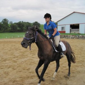 2nd time cantering =D