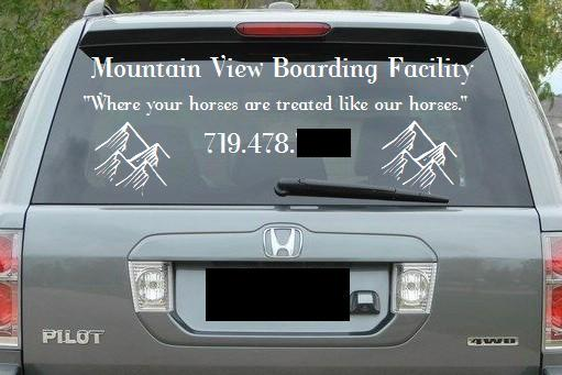 Custom Made Vinyl Decals for your car, horse trailer, walls